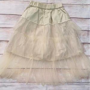 Cream mesh skirt